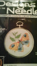 DESIGNS FOR THE NEEDLE CROSS STITCH KIT BUTTERFLY CIRCLET WITH FRAME RETIRED