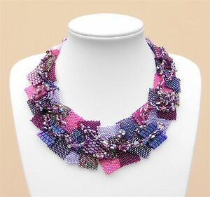 'Peyote Pzazz' Beaded Necklace INSTRUCTIONS - Suitable for beginners!