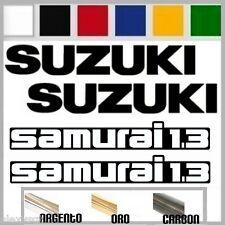set adesivi sticker SUZUKI SAMURAI 1.3 4x4 4wd fuoristrada prespaziato,auto