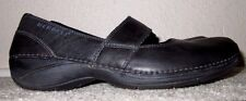 EUC Womens Size 5.5 Merrell BRIO Mary Jane Black Leather Slip On Comfort Shoes
