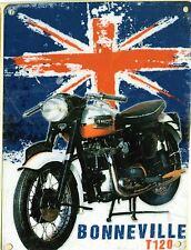 Nouveau 15x20cm triumph bonneville moto émail style tole publicitaire
