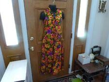 Vintage 1960s 1970s Hawaiian MAXI gown dress BOHO Hippie Retro Groovy Hawaii S10