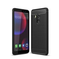 HTC U11 Eyes TPU Case Carbon Fiber Optik Brushed Schutz Hülle Cover Schwarz Neu