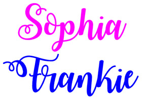Personalised Name/word x1 Vinyl Sticker For balloon, picture up to 20 cm