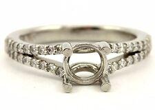 NEW platinum engagement ring semimount 1ct 6.5mm round center .34ctw diamonds