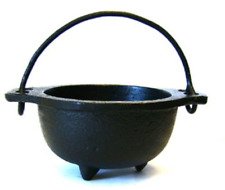 Cast Iron Cauldron w/handle, ideal for smudging, incense burning, ritual candle