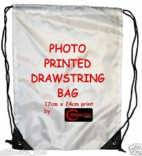 Personalised Photo Print Drawstring Bag Sack School PE Swim Gym Boot Kid Shoes