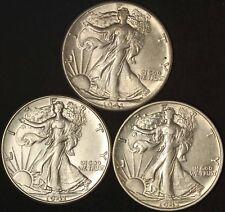 1941 P D S Walking Liberty Half Dollars - Free Shipping USA