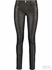 7 FOR MANKIND BLACK SKINNY FIT GLITTERED JEGGINGS JEANS SIZE 30 BNWT