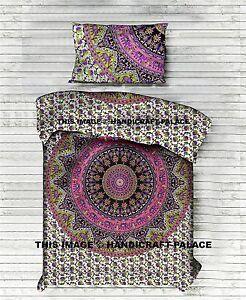 Étoile Tapisserie Mandala Avec 1 PC Oreiller Indien Literie Set Coton Lit Drap
