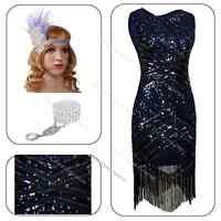 1920s Flapper Dress Vintage Charleston Gatsby Embellished Wedding Sequin Costume