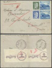 Germany WWII 1942 - Cover to Paris France - Censor D18
