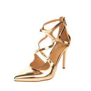 RRP €185 MICHAEL MICHAEL KORS Leather D'Orsay Shoes EU 39 UK 6 US 8.5 Metallic