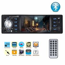 """1 DIN 4.1"""" Car Stereo Radio Touch Screen MP5 MP3 Player Bluetooth FM In Dash"""