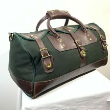 Orvis Battenkill Canvas & Leather Bottom Small Carry On Duffle Bag USA 18x9x9