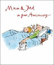 Quentin Blake Mamá & Dad Aniversario rango de las tarjetas de saludos popular tarjeta de felicitación