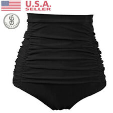 ad473b09b7a Women Ruched High Waisted Beachwear Bikini Brief Swim Shorts Bottoms  Swimwear V3