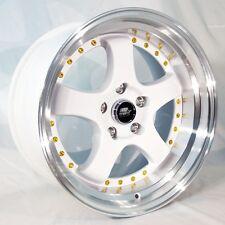 MST MT07 17x9 5x114.3 +20 White Rims  Fits Lexus Is250 Is350 Gs300 Gs350 Gs450