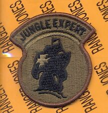 "US Army JUNGLE EXPERT ""Banana Boat"" OD Green / Black patch m/e"