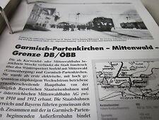 Neben - Schmalspurbahnen 14 Garmisch Partenkirchen Mittenwald Grenze ÖBB 16S
