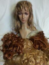 Large lot of women's wigs(6) light & Reddish Elura unbranded Pre owned