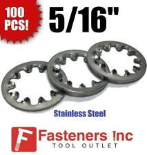 100 pk. #8 x 0.340 OD Carbon Steel Zinc Plated Finish Internal Tooth Type A Lock Washers