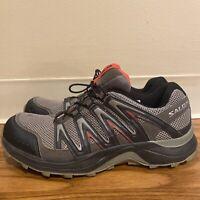 Womens SALOMON XA COMP 7 Waterproof Hiking Trail Running Shoes Gray Size 10
