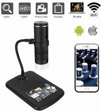 Wireless Digital Microscope,Wifi Camera50X-1000X Zoom1080p With Stand-8LED Light