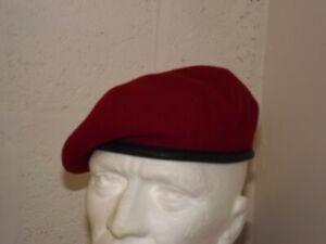 GENUINE BRITISH ARMY RMP MP BERET SCARLET RED MILITARY