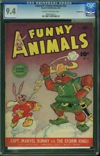 CGC FAWCETT'S FUNNY ANIMALS #22 NM 9.4 CROWLEY WHIZ, CROWLEY NICE!(@@)!