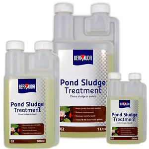 Bermuda Pond Sludge Treatment Removes Silt Debris Dead Algae 250/500/1000ml