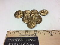 Vtg Lot 7x Navy Naval Brass Dress Buttons Anchor Design Rope Rim Lines Nautical