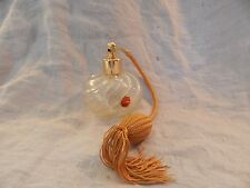 Vintage Murano Glass Perfume Bottle Clear with Gold Flakes Swirl