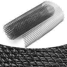 Black Type-Rhombus Front Hood Bumper Mesh Grille Car Exterior Body Net Aluminium