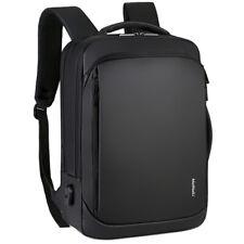 "Men Women Backpack Business 15.6"" Laptop Computer Bag Waterproof USB Travel Pack"