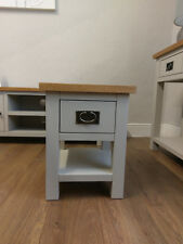 Dorset Grey Painted Lamp Table / Side End Unit / Living Room Furniture