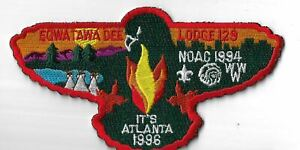 OA Egwa Tawa Dee Lodge 129 1994 NOAC It's Atlanta 1996 S13 RED Bdr. GA [MX-6370]