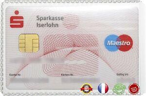 Etui de Protection  souple Format carte de crédit Transparent