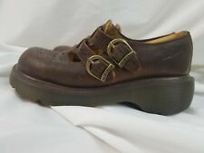 b9d241b07142 Dr. Martens Leather Double Strap Mary Jane Womens Shoes Brown Size US 6 UK 4
