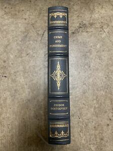 Crime and Punishment by Fyodor Dostoevsky Franklin Library 1982 leather