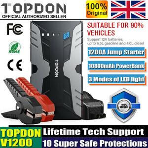 Portable 18000Mah 1200A Peak Battery Booster Power Pack Bank UK Car Jump Starter