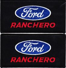 FORD RANCHERO SEW/IRON ON PATCH EMBLEM BADGE EMBROIDERED 1957 1963 1965 1971