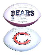 Chicago Bears Rawlings NFL White Panel Team Logo Full Size Fotoball Football