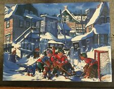 Street Hockey Canvas Painting Kids Montreal Canadiens vs Quebec Nordiques