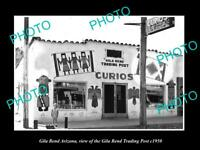 OLD POSTCARD SIZE PHOTO OF GILA BEND ARIZONA VIEW OF THE TRADING POST c1950