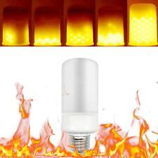 E26 5W 99LED Flame Flickering Effect Fire Light Bulb 3 Light Modes Party P9S5