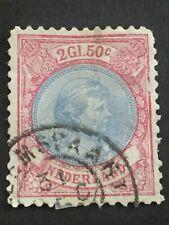 Postzegel Nederland NVPH 48 Prinses Wilhelmina 2½ gld rood/blauw
