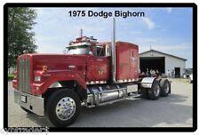 1975 Dodge Bighorn Red Semi Truck Refrigerator / Tool Box Magnet