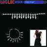 Silver Sew-On Rhinestone Diamante Applique Sewing Motif for Wedding Bridal Dress