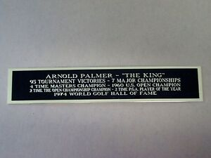 Arnold Palmer Career Nameplate For A Golf Ball / Club Case, Or Photo 1.25 X 6